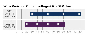 Wide Variation(output voltage:7kV class)